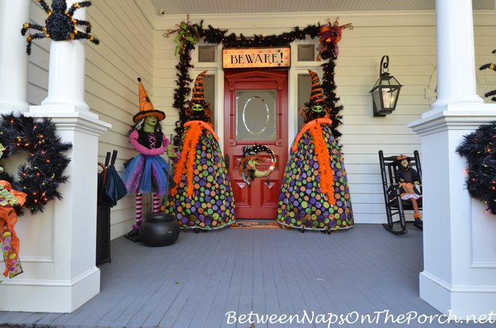 halloween-witches-greet-trick-or-treaters