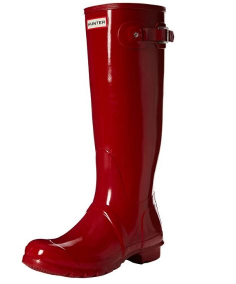 hunter-wellington-boots-gloss-red