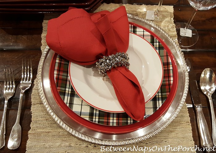 plaid-china-dinnerware-for-christmas-table