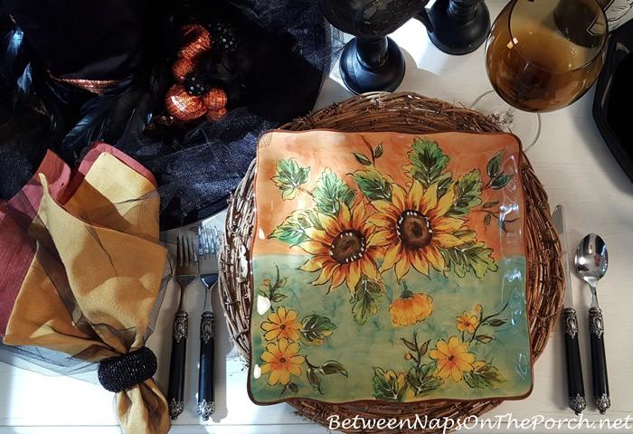 terra-cotta-sunflower-plates-maxcera