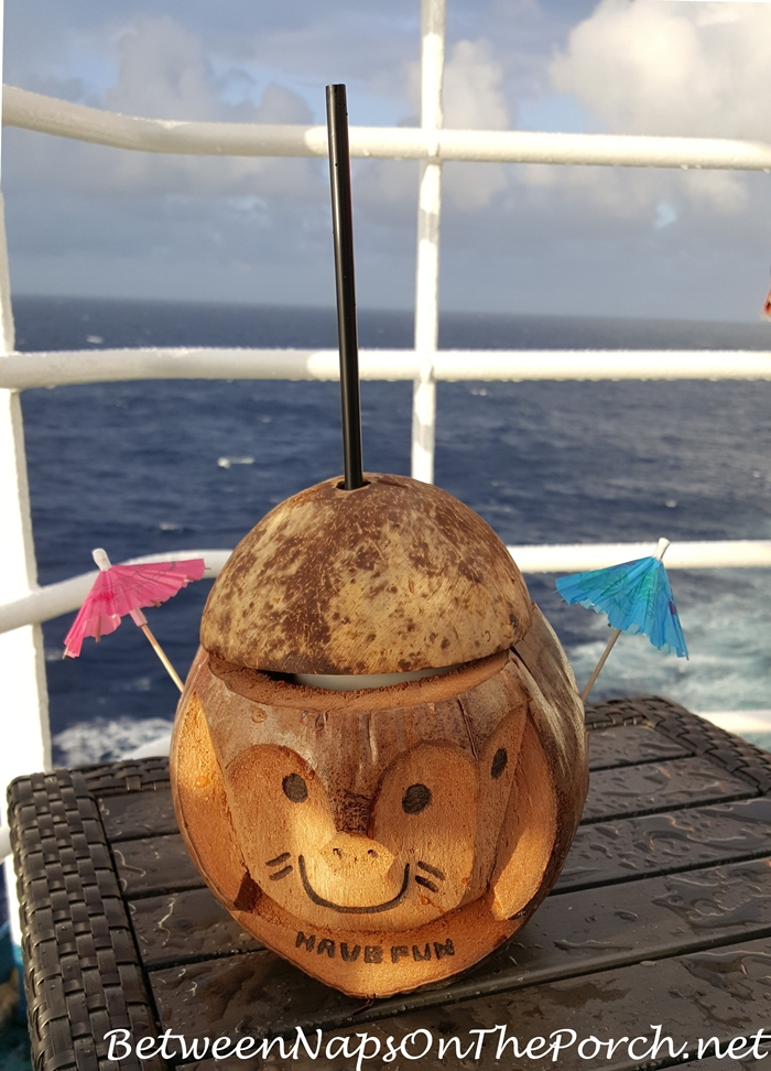 Party Drink in a Coconut Shell