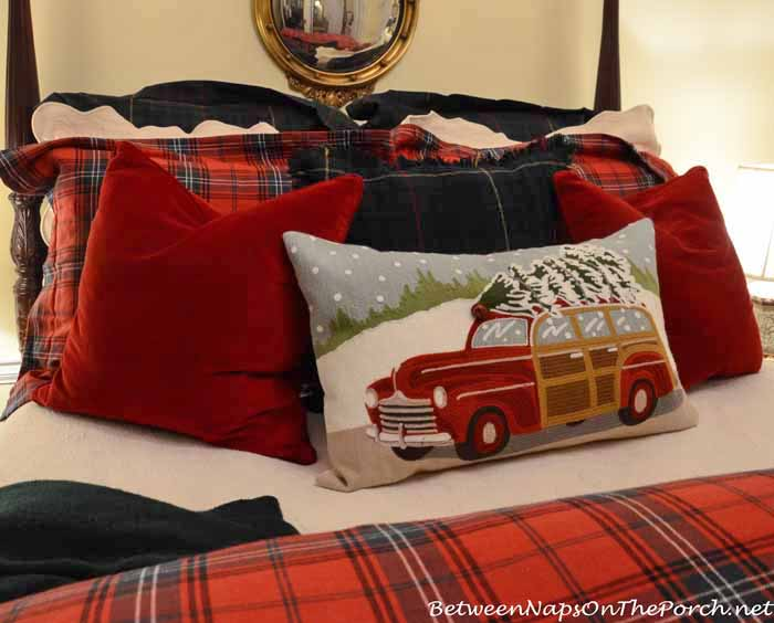 Beautiful pottery barn woody christmas pillow