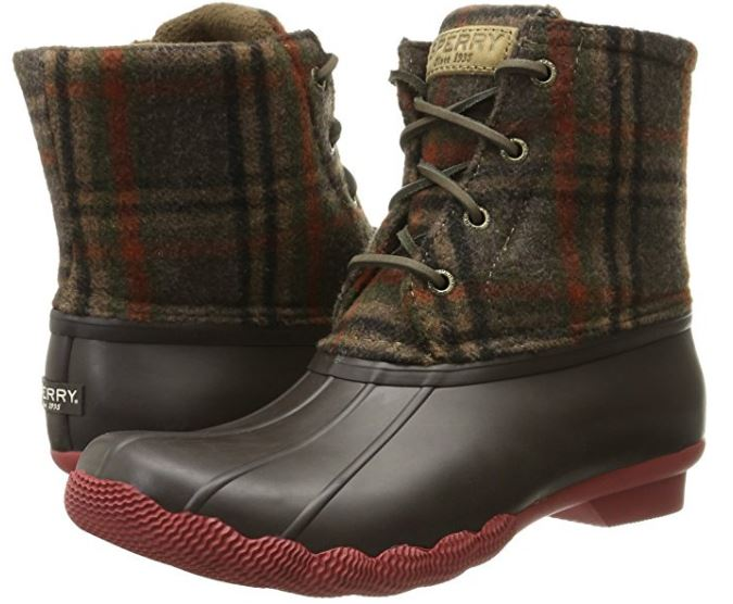 sperry-plaid-wool-rain-boots