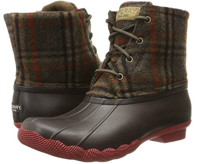 sperry-plaid-wool-rain-boots