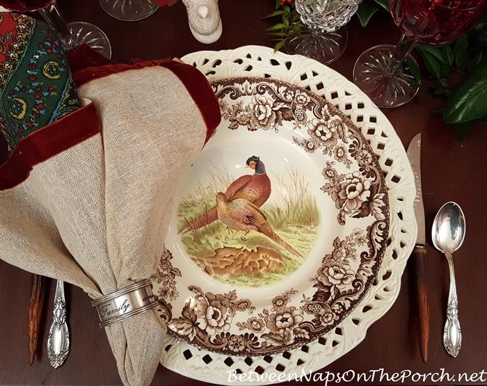 woodland-spode-dinnerware-antler-flatware-pierced-chargers