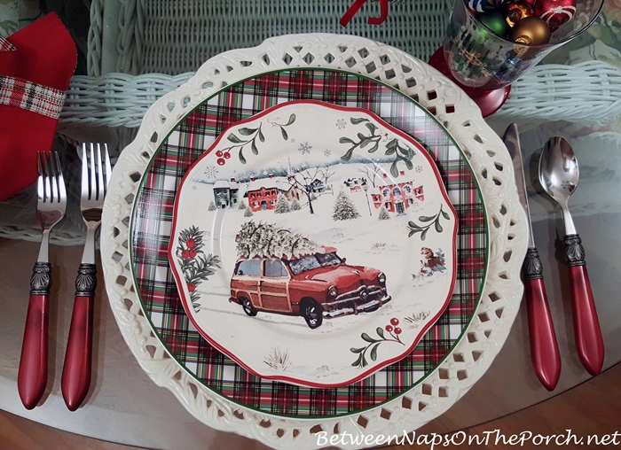 Better Homes and Garden Christmas China, Woody Car