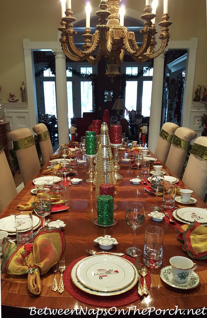 Beautiful Christmas Table With Lenox Holiday Amp Whimsical