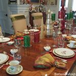 Beautiful Christmas Table with Lenox Holiday & Whimsical 2016 Biplane Accent Plate