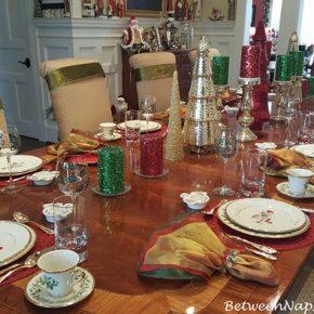 Christmas Table Setting with Lenox Holiday