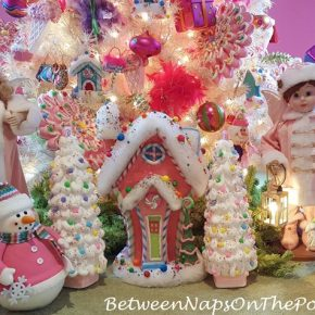 Christmas Tree in Pink for a Girl's Room