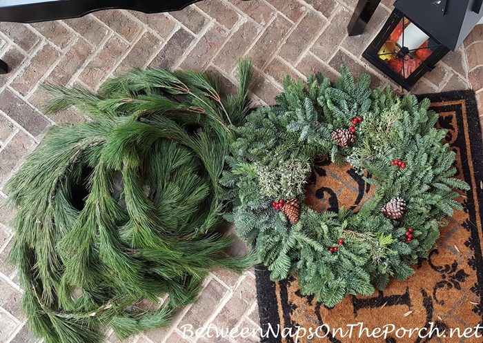 fresh-pine-garland-and-noble-fir-wreath