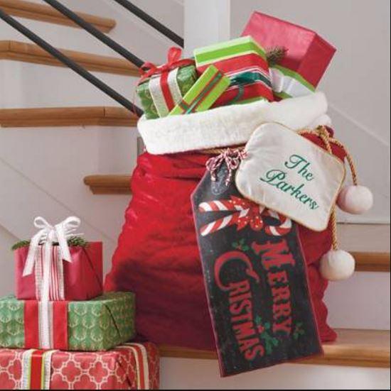 Red Velvet Santa's Bag