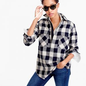 J. Crew Buffalo Check Shirt Jacket