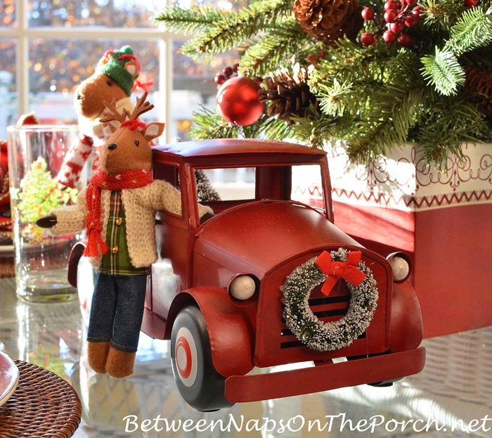 red-truck-with-wreath-on-front-grill