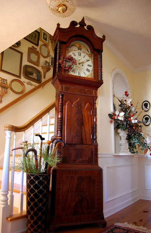 Front Entry with Grandfather Clock