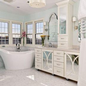 Bathroom with Sleek Tub Design