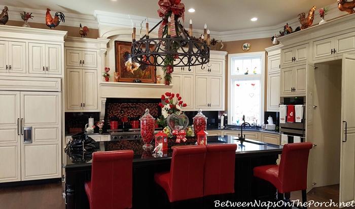 Beautiful Kitchen, White Cabinets, Black Island