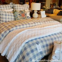 Blue and White Buffalo Check Duvet and Bedding