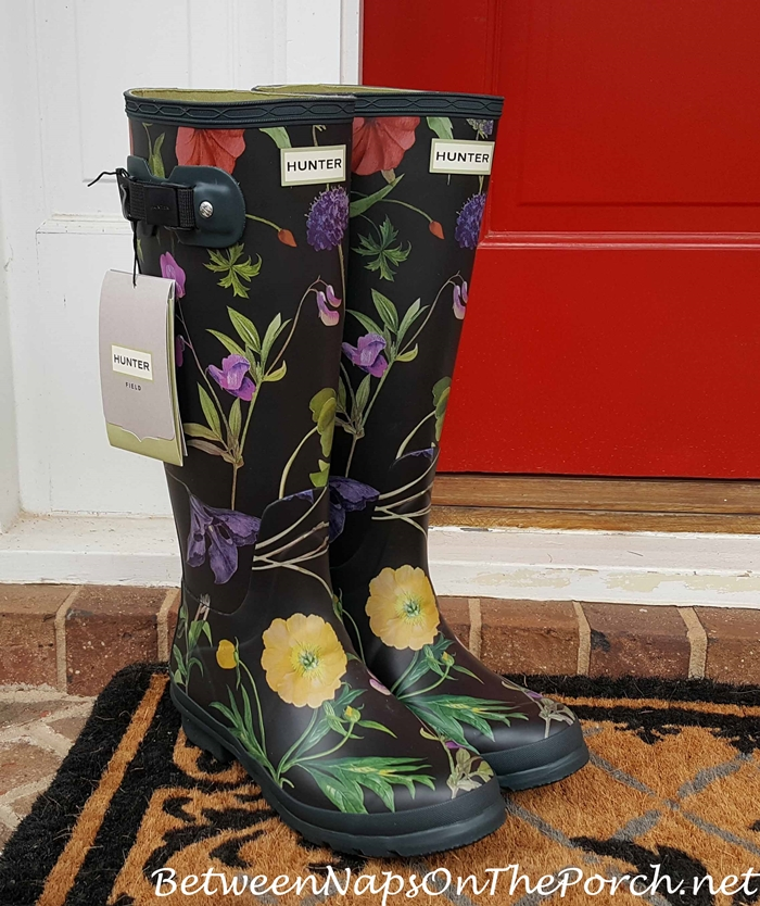 Hunter Royal Holticultural Society Floral Boots
