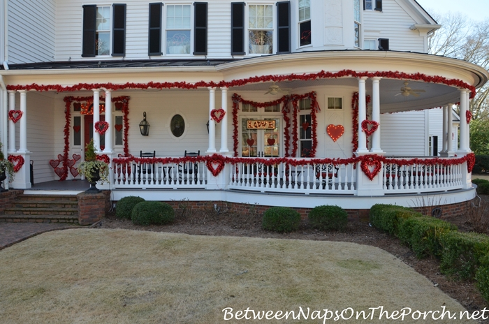 Valentine's Day Decor for Porch and Exterior