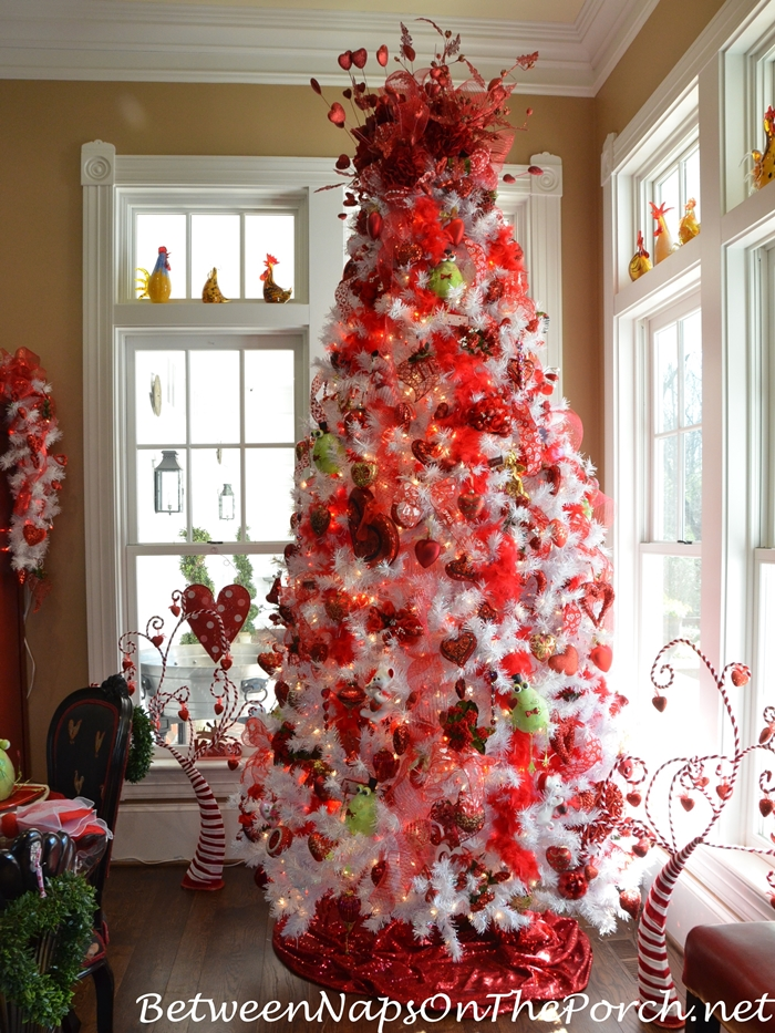 Valentine's Day Tree with Valentine's Day Ornaments and Decorations