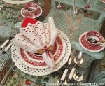 Valentine's Day Table with Vintage Copeland Spode, Tower