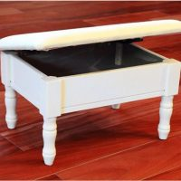A Cute Footstool with Storage Gets a New Look