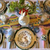 Hopping Into Spring with a Beautiful Spring-Easter Table Setting