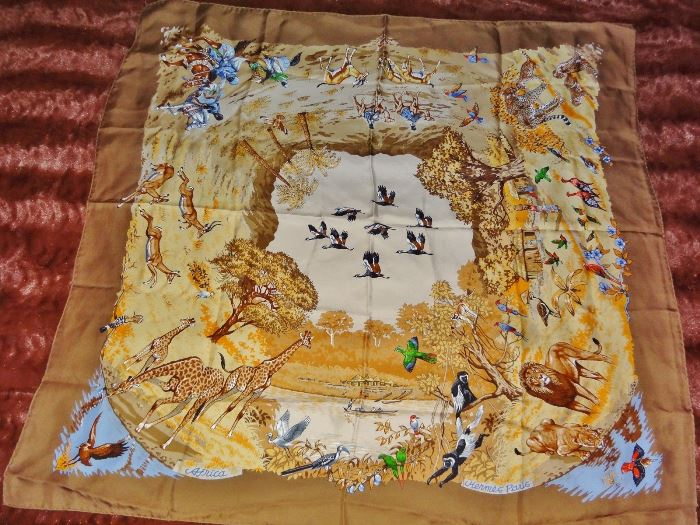 the safest way to clean a silk hermes scarf