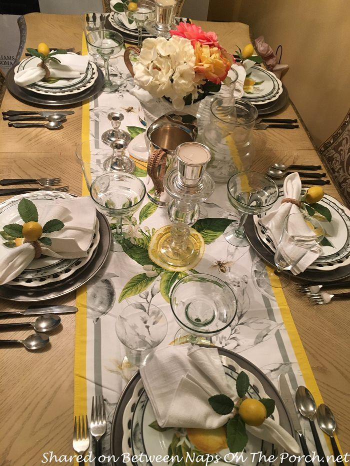 Dreams Of Italy A Lemon Inspired Table Setting