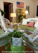 A Patriotic Porch & A Refreshing Drink for Summer Gatherings