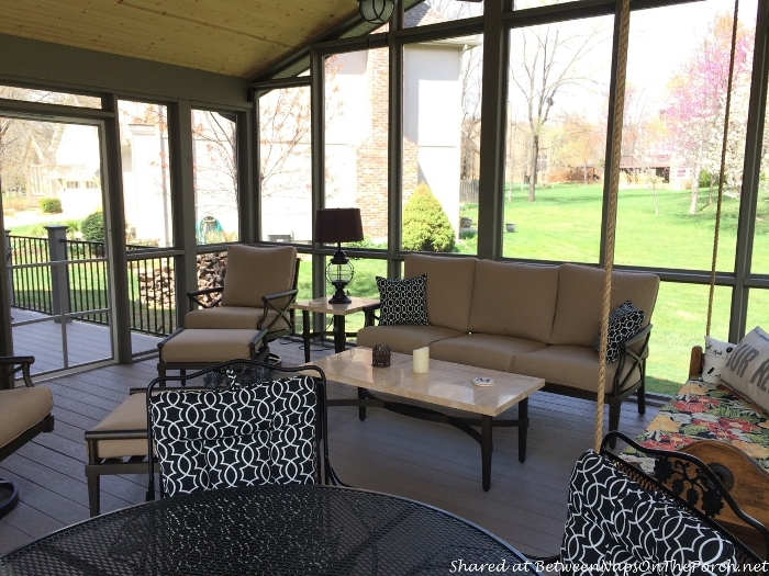 Screened Porch with Outdoor Furniture
