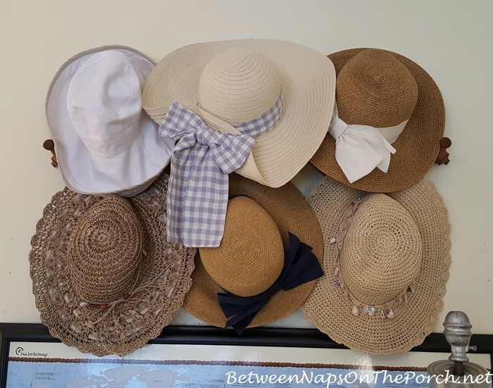Straw Hats for Sun Protection, Hat Rack