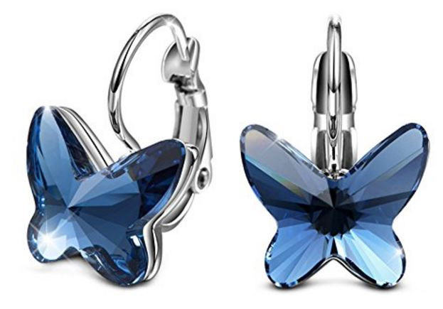 Nice At only I ordered them in blue as well They are available here Swarovski Butterfly Earrings