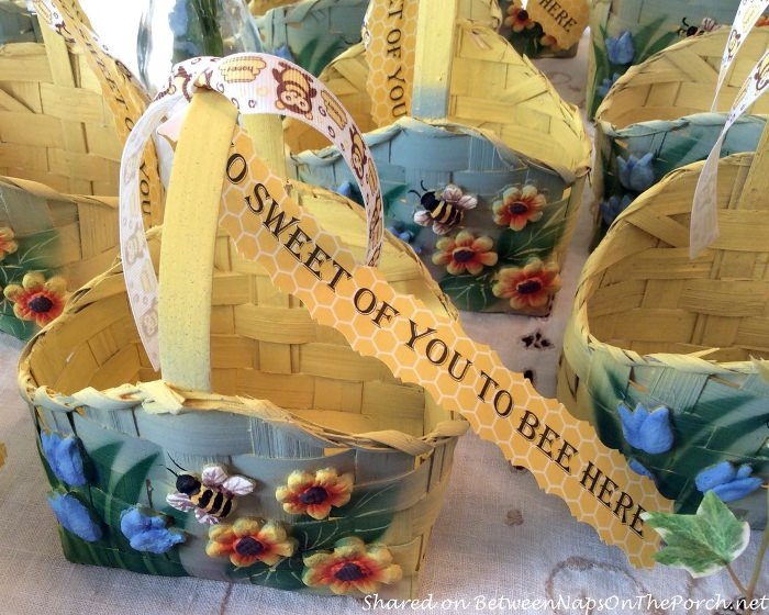 Bee Baskets for a Bee Themed Party