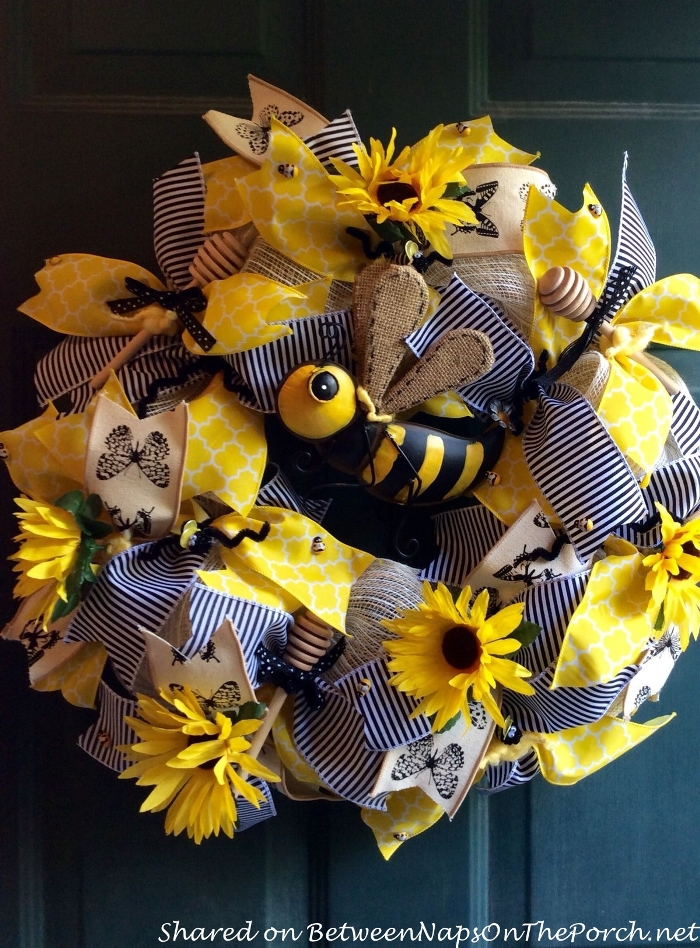 Spring Wreath with Bee Theme