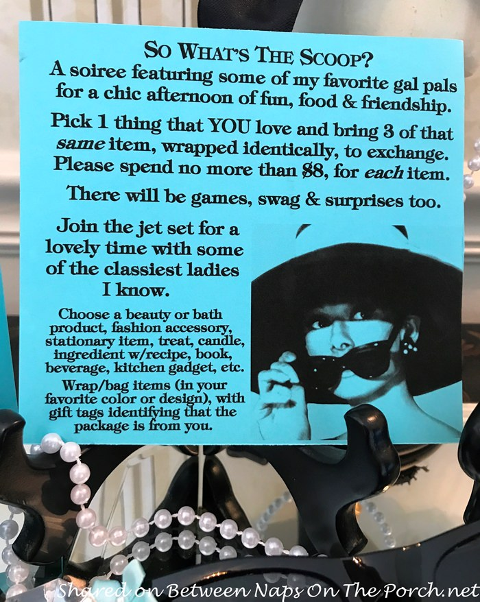 Debbie Explained At Each Place Setting You May Have Noticed A Mini Blue Paper Purse With Pearl Handle These Hold Three Numbered Cards And