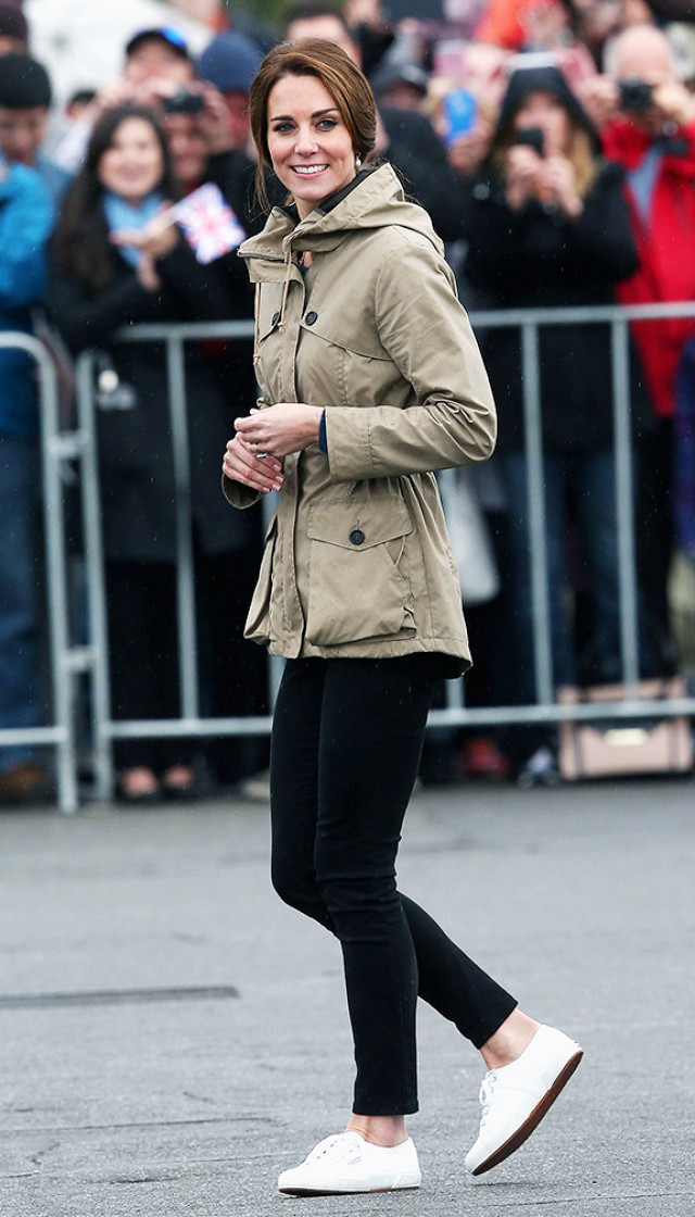 Kate Middleton Wearing Superga Sneakers