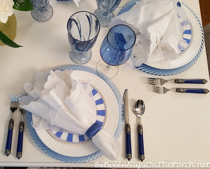 Noritake Carnivale Blue in Blue & White Table Setting