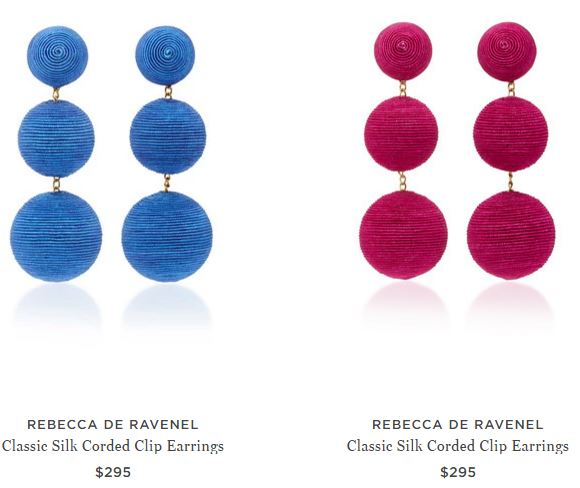 Rebecca de Ravenel Drop Earrings, Silk