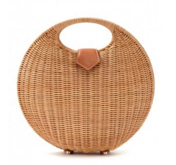Circular-Round Wicker Bag