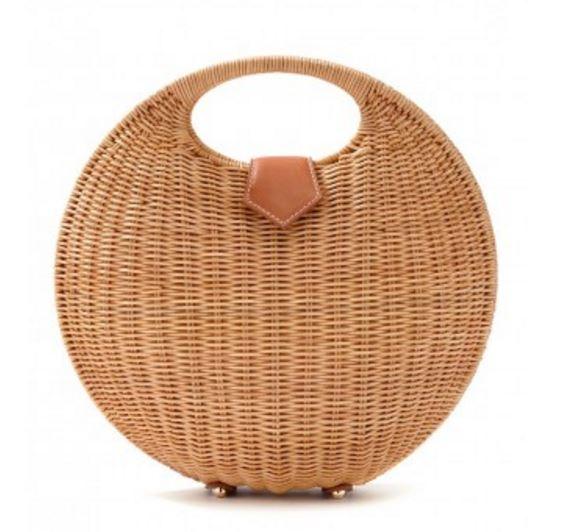 Circular-Round Wicker Bag