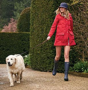 Barbour Gustnado Coat in Red