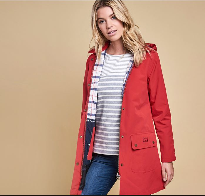 Barbour Gustnado Jacket in Red