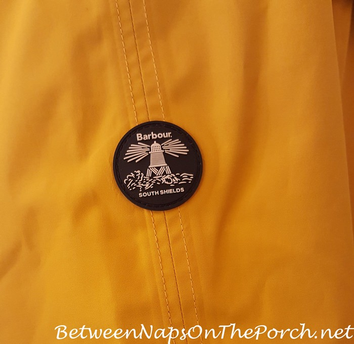 Barbour South Shields Logo on Trevose Jacket