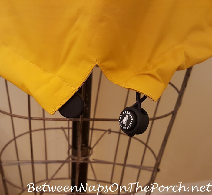 Barbour Trevose Yellow Jacket with Historic Fishtail Detail