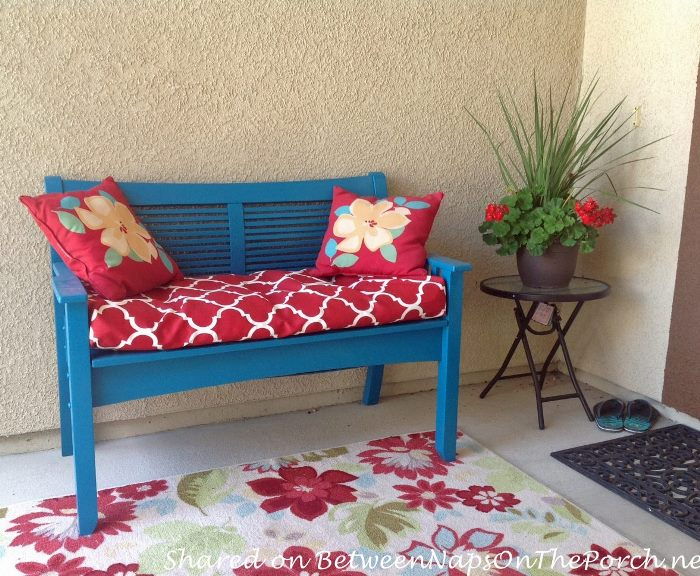Bench Makeover for Front Porch, New Paint