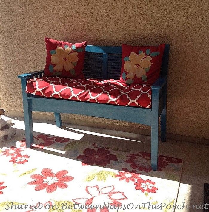 Blue Bench for a Porch Renovation