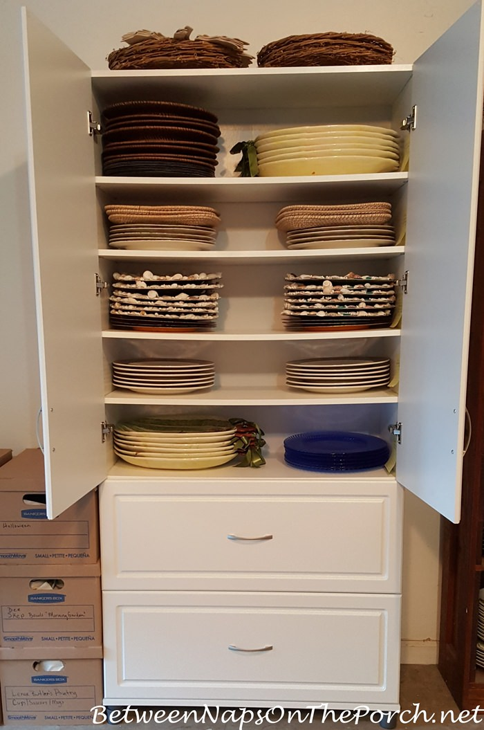 Charger Plates Storage