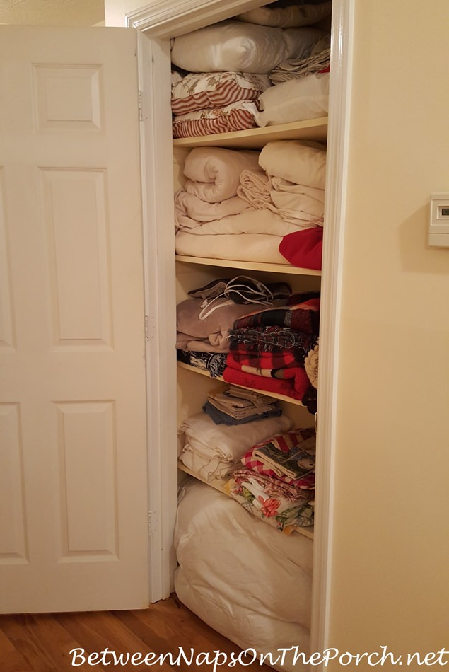 Closet for Linens, Sheets, Blankets and Tablecloths
